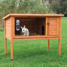 Trixie Natura One Story Rabbit Hutch - Rabbit Cages & Hutches at Hayneedle Cage Petit Animal, Small Animal Cage, Small Animals, Rabbit Hutch Plans, Rabbit Hutches, Meat Rabbits, Bunny Cages, Pet Cage, Animal House