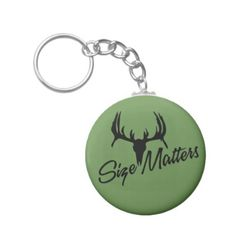 Size Matters Green Keychain  $3.70  by ExploreCNYTrails  - cyo customize personalize unique diy