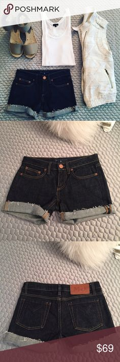 Marc Jacobs Dark Denim Shorts! These Marc by Marc Jacobs cutoffs are perfectly destructed while also being in pristine condition. These will be your new go to. Please note that these fit approximately 1/2 to 1 full size smaller than marked. Marc by Marc Jacobs Shorts Jean Shorts