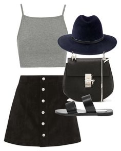 """""""Untitled #18832"""" by florencia95 ❤ liked on Polyvore featuring Topshop, AG Adriano Goldschmied, Penmayne of London, Chloé and Steve Madden"""