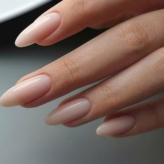 On average, the finger nails grow from 3 to millimeters per month. If it is difficult to change their growth rate, however, it is possible to cheat on their appearance and length through false nails. Are you one of those women… Continue Reading → Almond Acrylic Nails, Cute Acrylic Nails, Cute Nails, Pretty Nails, My Nails, Long Almond Nails, Natural Almond Nails, Almond Shape Nails, Long Natural Nails