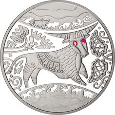 Ukraine 2009 5 Hryvnia's Year of the Ox Proof Silver Coin :: Top World Coins