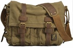 Military Canvas Messenger Bag