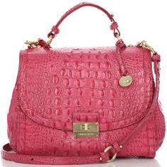 Brahmin Brahmin Phoebe Flap Satchel ($295) ❤ liked on Polyvore featuring bags, handbags, purses, bolsas, bolsos, red handbags, man bag, red leather purse, leather handbags and leather purse