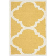 Found it at Wayfair - Cambridge Gold & Ivory Area Rug