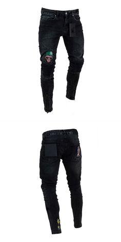 700f317f060 Men fashion applique zipper design denim jeans mens bell bottom jeans 70s   mens  denim