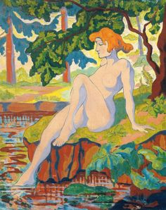Bather Dipping Her Foot Artwork By Paul Ranson Oil Painting & Art Prints On Canvas For Sale Figure Painting, Figure Drawing, Art Beauté, Avant Garde Artists, Post Impressionism, Illustration, Colorful Paintings, Erotic Art, Figurative Art