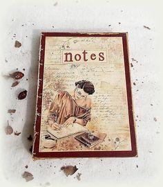 Decoupage, Nostalgia, Notes, Handmade, Vintage, Art, Paper, Art Background, Report Cards