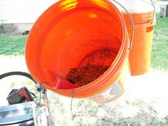 Black Soldier Fly (self-serve) Larvae Bucket for Under $5 - BackYard Chickens Community (Must try this!  Especially useful when the girls must be penned up for any length of time)