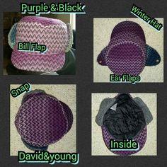 Selling this Purple & Black Hat in my Poshmark closet! My username is: kfrye71. #shopmycloset #poshmark #fashion #shopping #style #forsale #Accessories