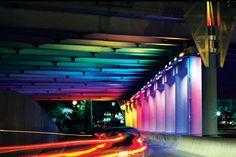 Bill FitzGibbons's Technicolor Underpass Installation