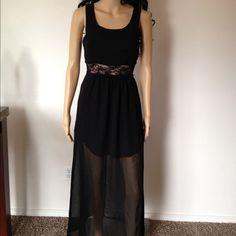 Maxi Dress Size S Black with lace detail maxi dress size S Dresses Maxi