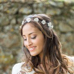 """Alba"" Couronne de mariée fleurie"