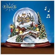 Thomas Kinkade Jingle Bells? Illuminated Musical Snow Globe
