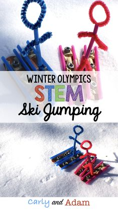 Students learn about the Winter Olympic sport of ski jumping and complete a STEM activity. (Winter Games STEM) (Winter Olympics Activities)