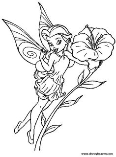 Image Detail For Disney Fairy Rosetta Coloring Page