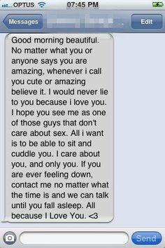 Awww! Good morning texts <3