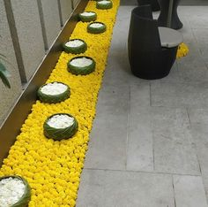 ideas for garden wedding decorations receptions entrance Rangoli Designs Flower, Rangoli Designs Diwali, Flower Rangoli, Rangoli Ideas, Diwali Rangoli, Easy Rangoli, Flower Designs, Diwali Decorations At Home, Festival Decorations