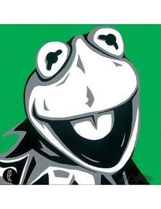 The Muppets Kermit the Frog Fine Art by Allison Lefcort