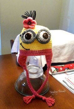 Minion crochet hat Funny Hat Character Hat Gift by TanglingThreads