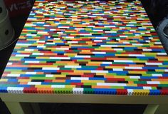 Pimp my Ikea Lack with Lego - a superb idea this! would be great in a kids room - love it ;-)