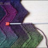 Одеяло Зиг-Заг из 10 петель, урок вязания спицами