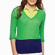 My Crafty Collections: Bargain Bin - Cotton-Linen Blend Cable Sweater from JCPenney is on sale for just $9.99. Available in a variety of colors and sizes.