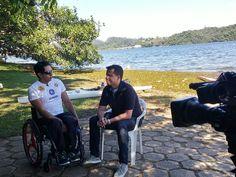 Atleta da #paracanoagem Luis Carlos Cardoso em entrevista ao Esporte Fantástico da TV Record. #assessoriadeimprensa #marketingesportivo  www.benditaimagem.com.br