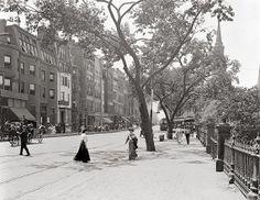 Old Boston photography. Boylston Street, Boston, Massachusetts, year c1910.Archival print - Vintage Boston photo - Antique photo Print