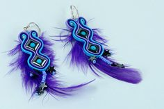 Most Wanted Acrylic Earrings Soutache Earrings, Feather Earrings, Dangle Earrings, Gifts For Girls, Gifts For Women, Body Adornment, Lany, Hair Accessories For Women, Turquoise Earrings