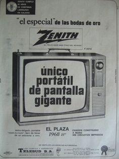 Zenith - El Televisor más fino del mundo  Publicidad de 1968 - Argentina