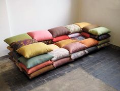 Pillow Sofa on #thecoolhuntingmag #thecoolhunter #tchmag #matteosormani #coolhunting