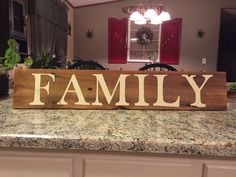 """Barn wood """"FAMILY"""" sign by ASmidgeofCharacter on Etsy"""