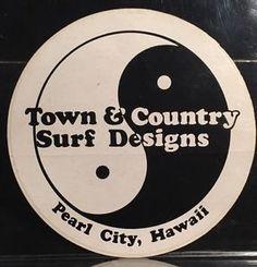 Vintage Town Country Surf Designs Pearl City Hawaii Skateboard Sticker | eBay