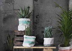 DIY Textile Pots