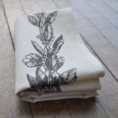 TEA TOWEL   laurel by bookhouathome on Etsy, $16.00