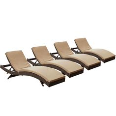 LexMod Peer Outdoor Wicker Chaise Lounge Chair with Brown Rattan and Mocha Cushions, Set of Modern Outdoor Chaise Lounge. Water and UV Resistant. Patio Chaise Lounge, Patio Rocking Chairs, Chaise Lounges, Wood Patio Furniture, Patio Glider, Sun Lounger, Mocha, Rattan, Wicker