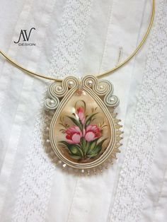 "Soutache pendant ""Flowers"""