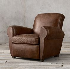RHu0027s Parisian Leather Chair:Inspired By An Original From 1920s Paris, This  Is The