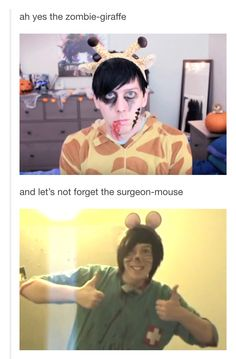 the surgeon-mouse is cute while the zombie-giraffe is hot