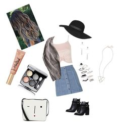 """""""Topshop"""" by emmatraynor on Polyvore featuring Topshop, Lulu Guinness, Too Faced Cosmetics and Chanel"""