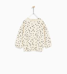 Image 2 of SPOTTED SMOCK TOP from Zara
