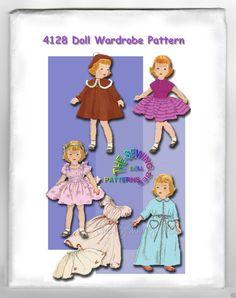 "Fits Toni, Betsy Mary Hoyer Sweet Sue Dolls 14"" Doll Wardrobe Pattern 4128 | eBay"