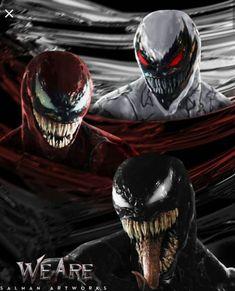 Venom, Carnage & Anti-Venom from Marvel Venom Comics, Marvel Dc Comics, Comics Anime, Marvel Venom, Marvel Villains, Marvel Comic Universe, Marvel Vs, Marvel Characters, Marvel Heroes