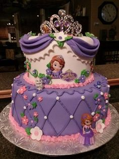 Sofia the First Birthday cake #Sofia #fondant #cake