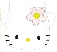 Template for felt Hello Kitty Drawstring bag