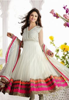 Pakistani Bridal frocks designs are very pretty & especially prepared for young Pakistani girls and women. I am telling about the Pakistani Bridal frocks Pakistani Bridal, Pakistani Dresses, Indian Dresses, Indian Outfits, Pakistani Clothing, Anarkali Frock, White Anarkali, Anarkali Suits, Anarkali Churidar
