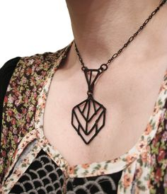 Geometric Necklace Inspired by Armatures of by jamiespinello