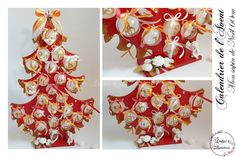 Calendrier de l'avent en bois. Sapin de Noël 60cm et ces 24 boules à remplir de la boutique OrchidEtCreations sur Etsy Articles, Boutique, Etsy, Fir Tree, Greeting Card, Boutiques