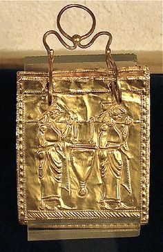 Etruscan Gold Book: This is believed to be the oldest complete multiple page book found in the world. It is made of six plates of gold, each 5 x 4.5 cm, and bound with two rings. It dates to 600 BC.